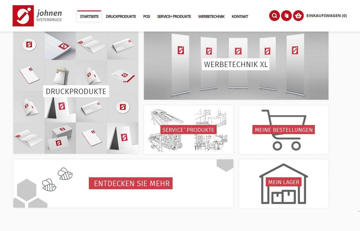 johnen-systemdruck.de / Das Onlinedruckportal für Handel & Industrie